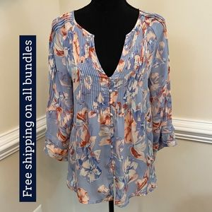 Joie Silk Floral Blouse Size XS